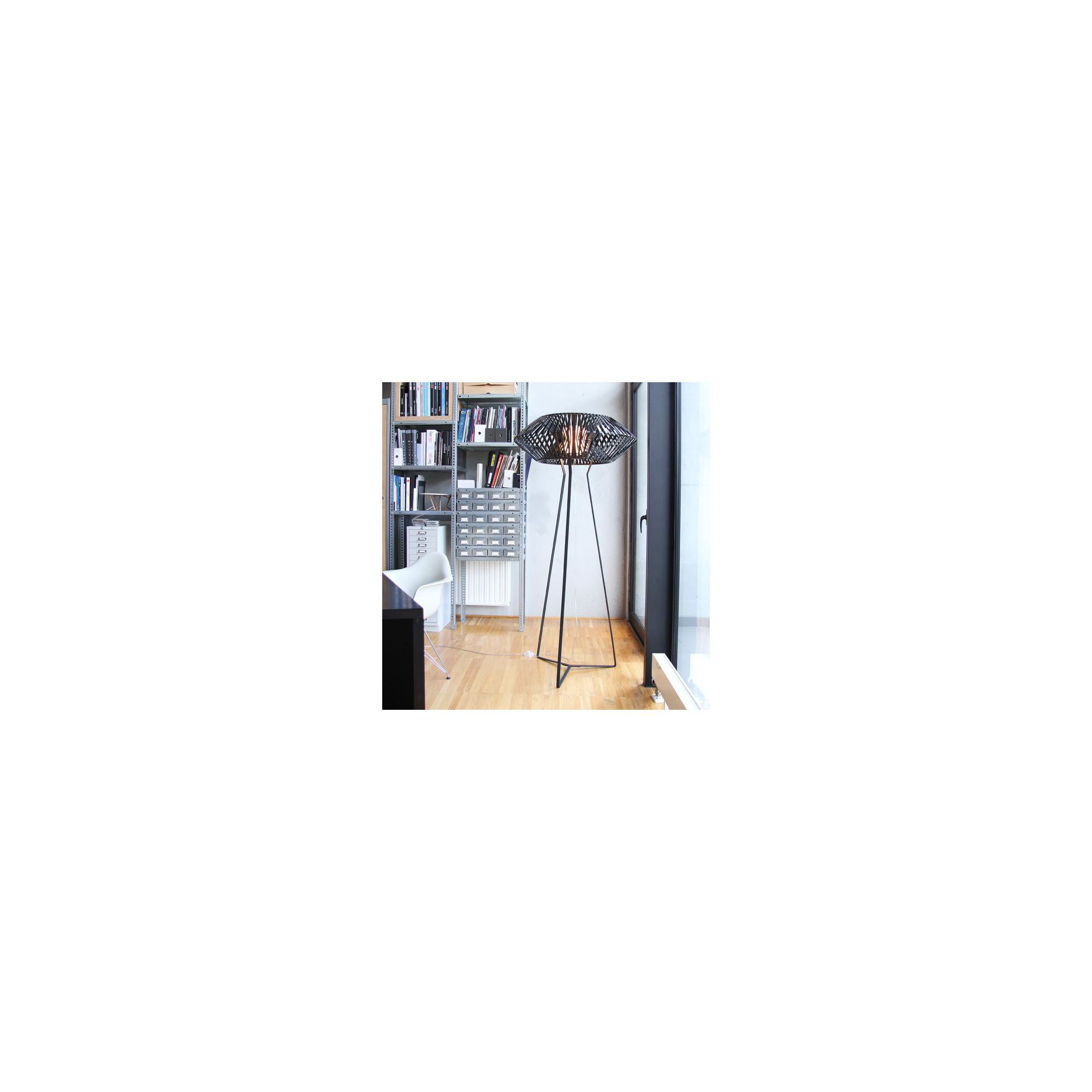 Arturo Alvarez V Floor Lamp - Black Painted Metal - Black at Tesco Direct