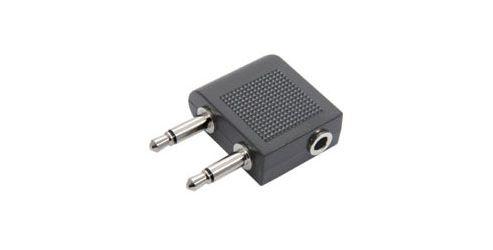 Skytronic 758480 Airplane Headphone Socket Adaptor
