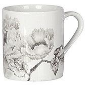 Tesco Grey Floral Porcelain Mug