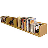 Virgil - Cd / Dvd / Blu-ray / Video Media Wall Storage Shelf - Beech