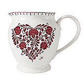 Jan Constantine Romany Heart Design Small Fine China Jug