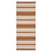 Swedy Malva Orange / White Rug - Runner 60 cm x 150 cm (2 ft x 4 ft 11 in)