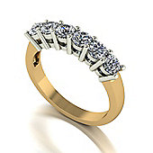 18ct Gold 6 Stone Moissanite Eternity Ring