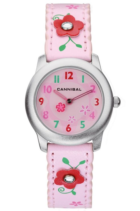 Cannibal Kids Girls Pink Rubber Strap Watch CK114-14