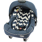 Obaby Car Seat Group 0+, Zigzag Navy