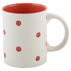 Tesco Red Handpainted Spot Mug Single