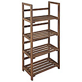 Four Tier Storage Shelves / Display Unit-dark Wood Effect