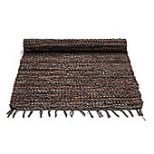 Rug Solid Chocolate Rug - 90cm x 60cm (2 ft 11.5 in x 1 ft 11.5 in)
