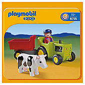 Playmobil Farmer With Tractor