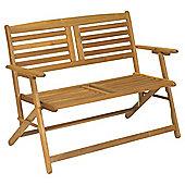 Atlantic Wooden Folding Garden Bench, Acacia, 2 seater