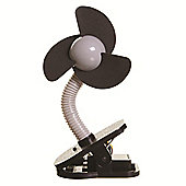 Dreambaby Clip On Stroller Fan Silver with Black Fins