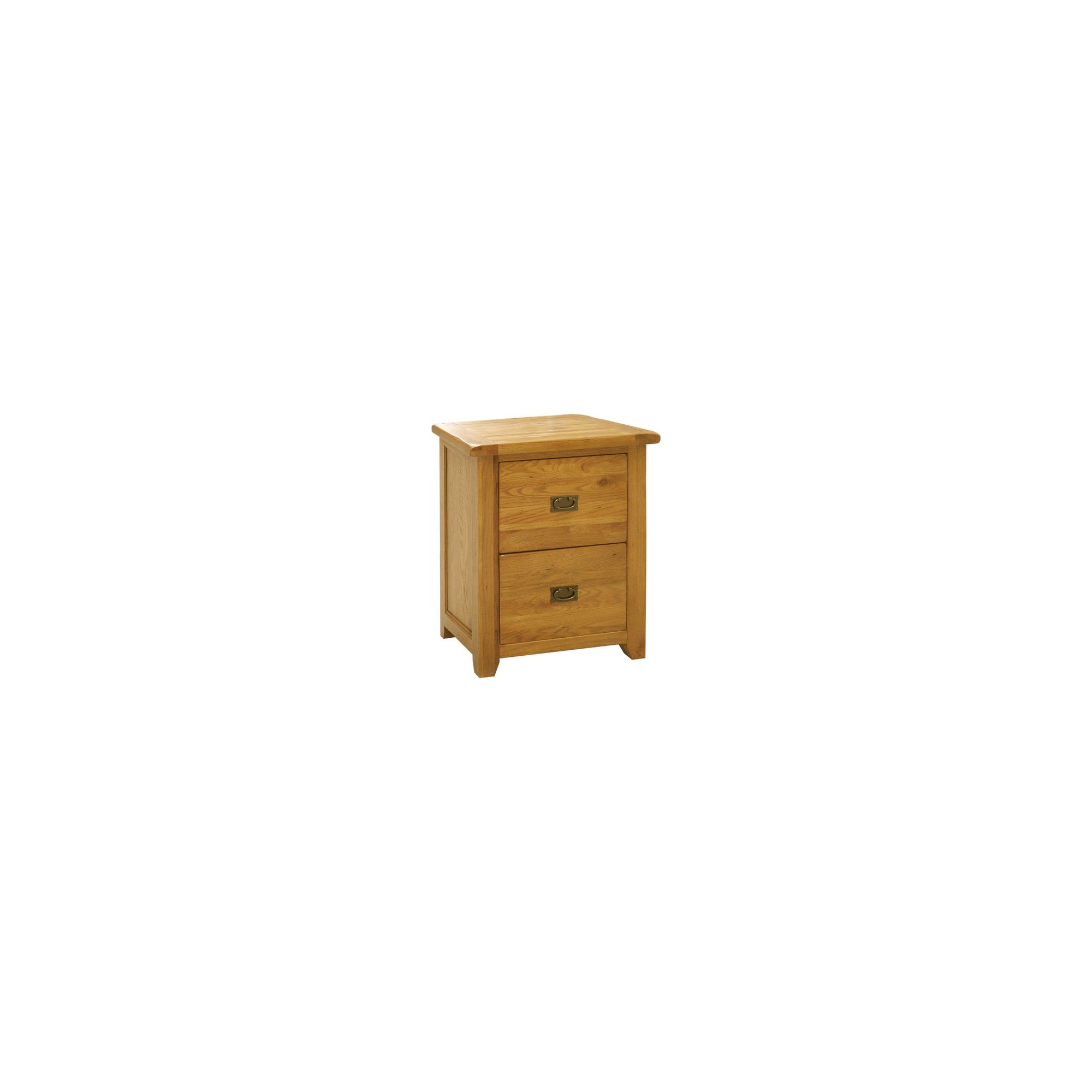 Kelburn Furniture Bordeaux 2 Drawer Filing Cabinet in Medium Oak Stain and Satin Lacquer at Tesco Direct