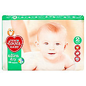 Tesco Loves Baby Ultra Dry - Mini - Size 2 - 38 Pack