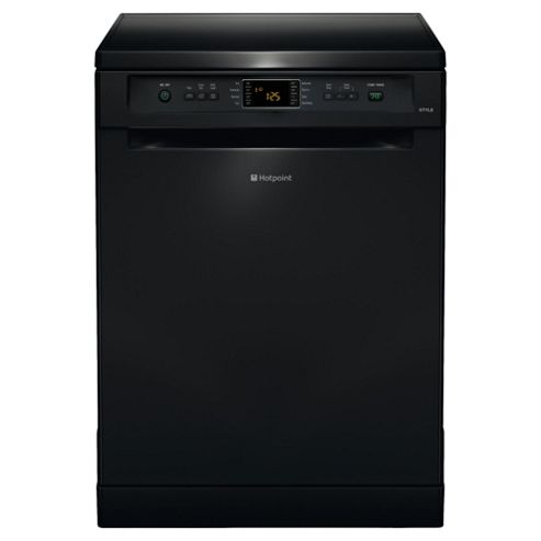 Hotpoint FDYF11011K Fullsize Dishwasher, A Energy Rating, Black