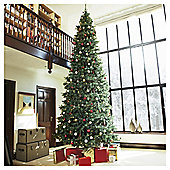 Festive Pre-Lit Colorado Spruce Christmas Tree With Warm White LED Lights, 15ft