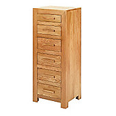 Rubix Solid Oak 6 Drawer Chest of Drawers