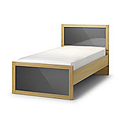 Strada Light Oak Finish with Grey 3FT Single Wooden Bed Frame