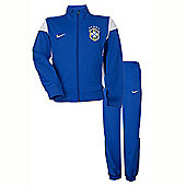 2014-15 Brazil Nike Academy Tracksuit (Blue) - Kids - Blue