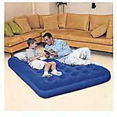 Bestway Double Flocked Air Bed, Blue