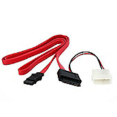 StarTech Slimline SATA Female to SATA with LP4 Power Cable Adaptor (0.9m)