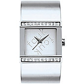 French Connection Stone Set Ladies Bangle Watch - FC1015S