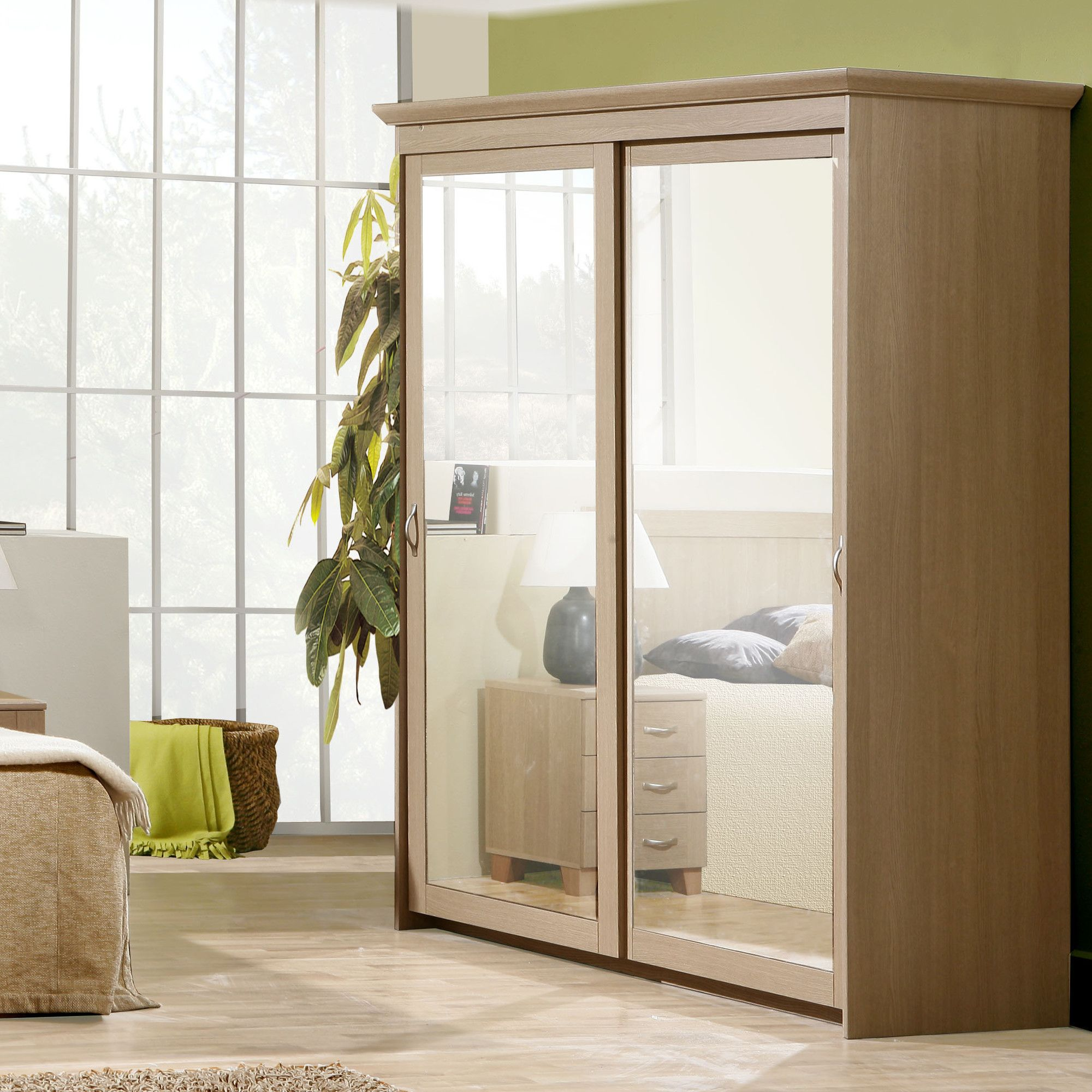 Ideal Furniture Rio Sliding Wardrobe in Yorkshire Oak at Tesco Direct