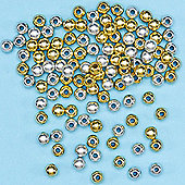 Gold & Silver Spacer Beads-Pack of 450 crafts