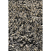 InRUGS Diamond Grey Shaggy Rug - 230cm x 160cm (7 ft 6.5 in x 5 ft 3 in)