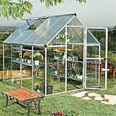 8 x 6 Silver Aluminium Greenhouse