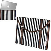 """Blue & White Fabric Laptop Sleeve Pouch For 13""""-15"""" Laptop / Ultrabook"""