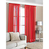 Slot Top Voile (Pair) - Red