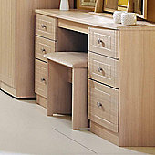 Welcome Furniture Warwick Kneehole Dressing Table - Light Oak