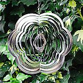 Flower Shaped Steel Windspinner For The Garden