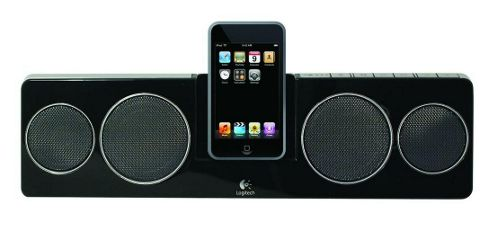 Logitech Pure-Fi Anywhere 2 Speaker System (Black) for iPod and iPhone