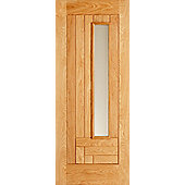 LPD Doors Vigo Oak 1 Panel Double Glazed Exterior Door - 203.2 cm H x 81.3 cm W x 4.4 cm D