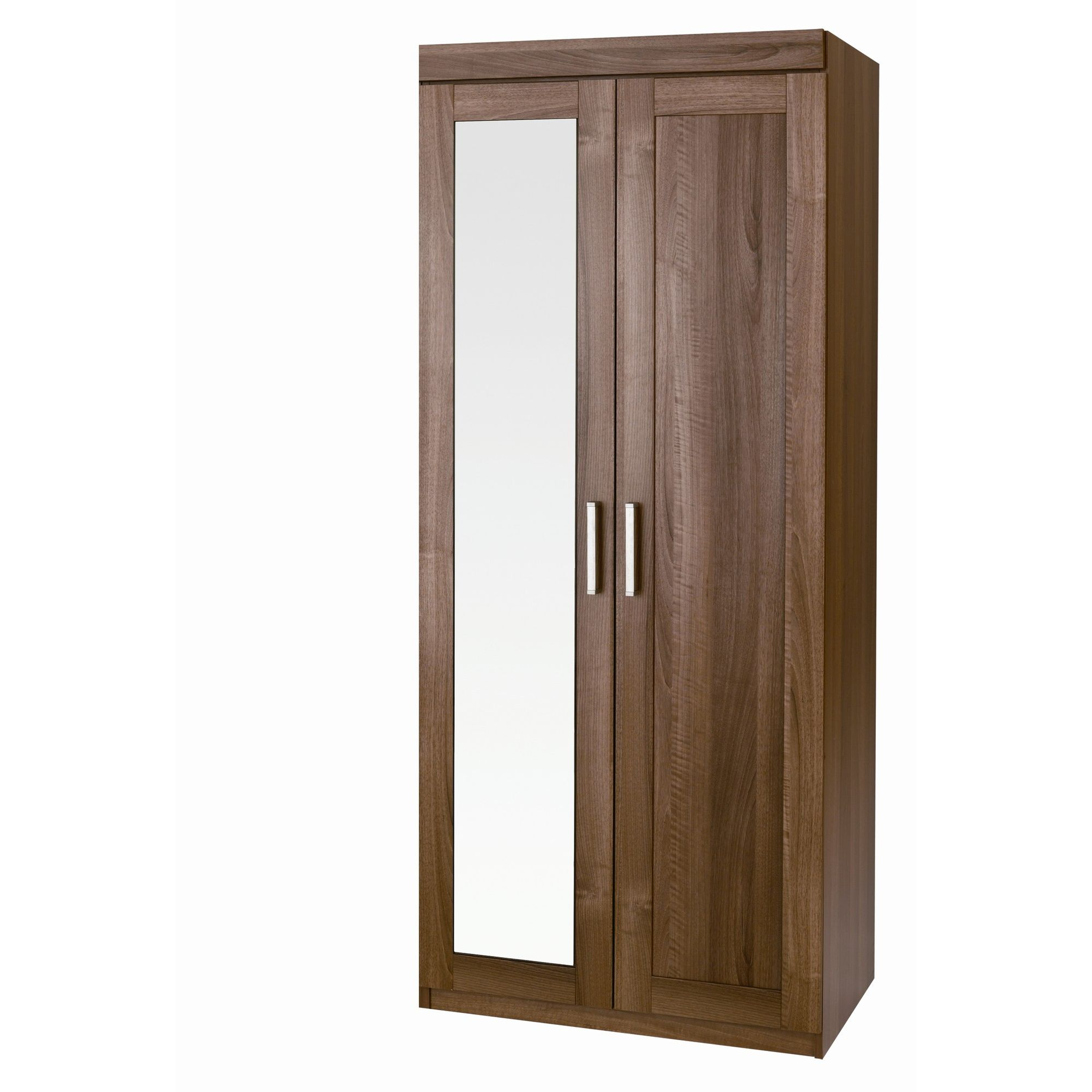 Alto Furniture Visualise Alive Wardrobe with Mirror in Natural Aida Walnut at Tesco Direct