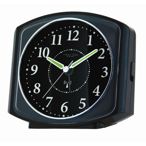 buy london clock company square case radio controlled alarm clock black from our clocks range. Black Bedroom Furniture Sets. Home Design Ideas