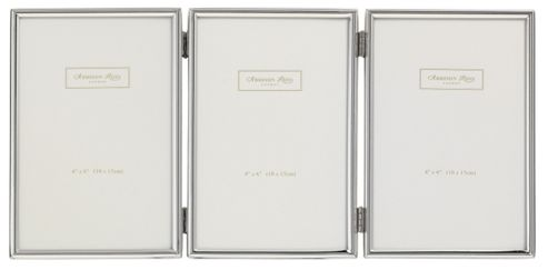 Addison Ross Essentials Photo Frame Silver Plate Treble Frame - 2 in x 3 in