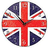 Smith & Taylor Union Jack Round Wall Clock
