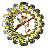 Iron Stop Designer Tree Frog Wind Spinner 6.5in