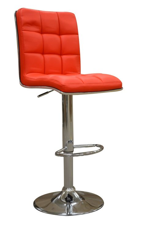 Atlanta Red Faux Leather Bar Stool
