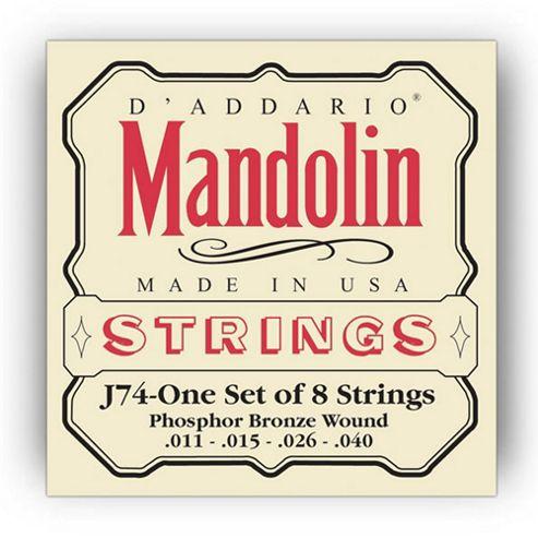 DAddario J74 Phosphor Mandolin Strings -Medium