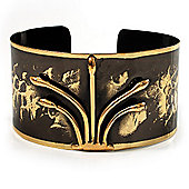 Stylish Black 'Crown' Ethnic Cuff Bangle