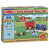 Melissa & Doug Farm Animal Wooden Train