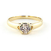 QP Jewellers Diamond Solitaire Ring in 14K Gold