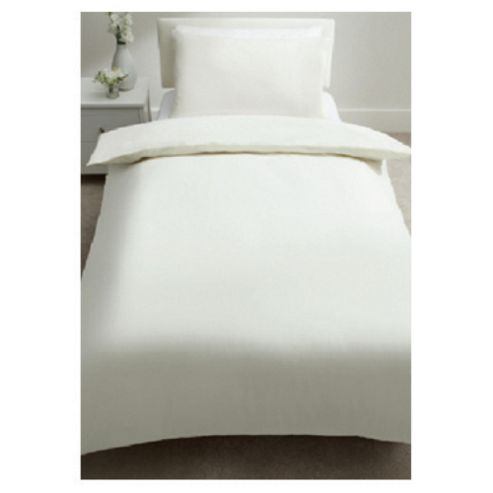 Tesco Jersey Cream Single Duvet Cover Set