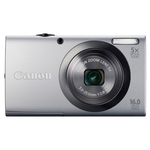 Canon A2300 Powershot Digital Camera, Silver, 16MP, 5x Optical Zoom, 2.7 Inch LCD screen