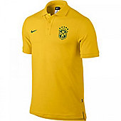 2014-15 Brazil Nike Core Polo Shirt (Yellow)