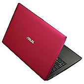 "Asus X200CA 11.6"" Touch Laptop, Intel Celeron, 4GB Memory, 500GB Storage - Red"