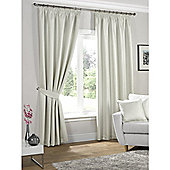 KLiving Neva Blackout Pencil Pleat Curtains 65x90 - Cream (163x229cm)